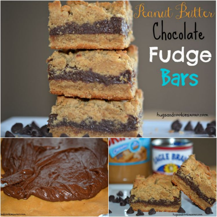 peanut butter chocolate fudge bars