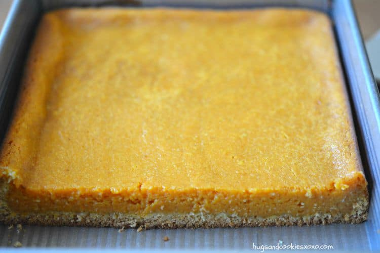 pumpkin bars sheet pan