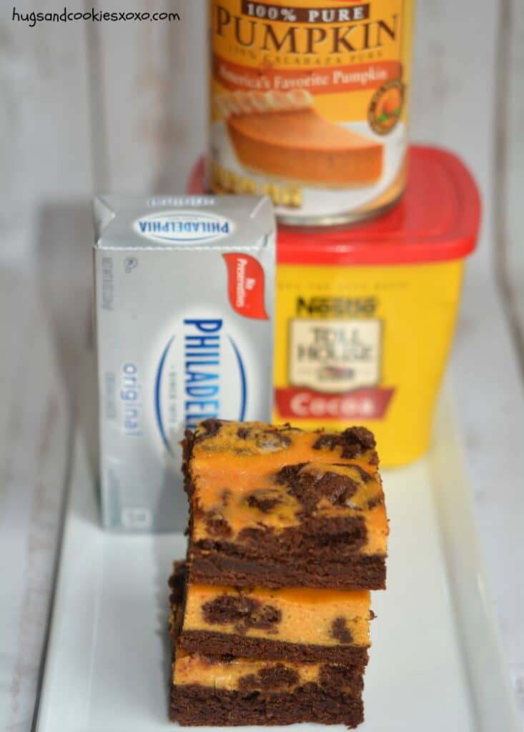 pumpkin brownies cheesecake