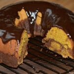 Pumpkin Chocolate Marble Bundt Cake