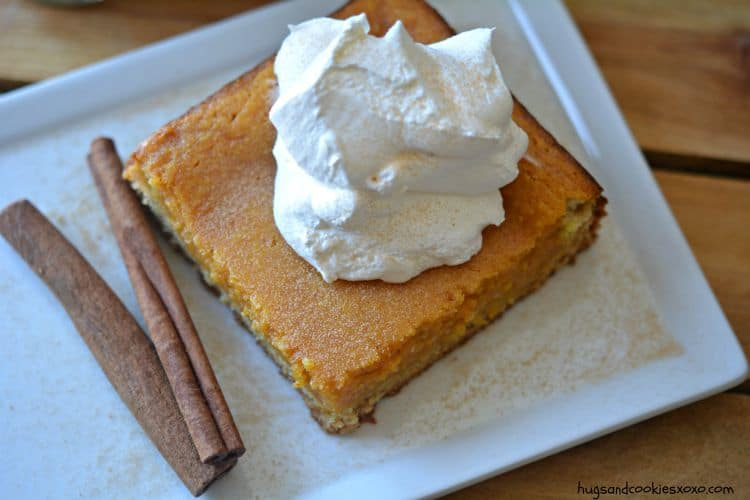 pumpkin gooey bar slice