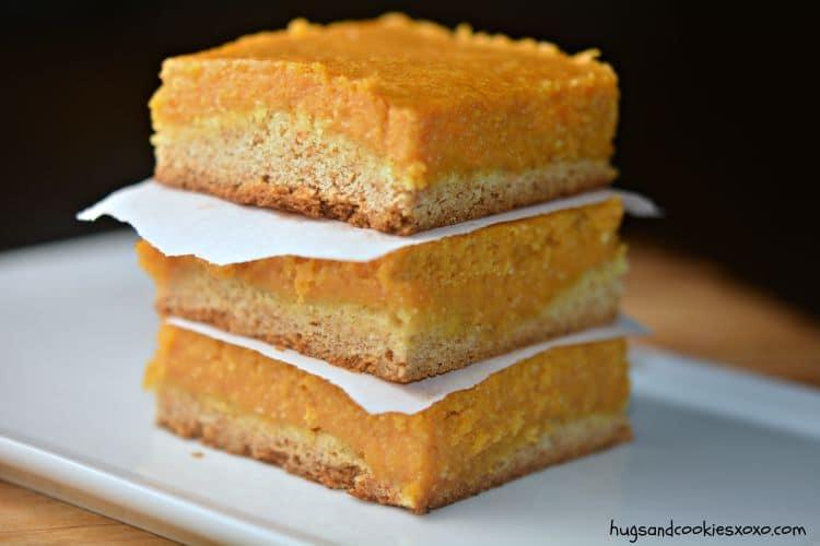 pumpkin gooey cakes dessert