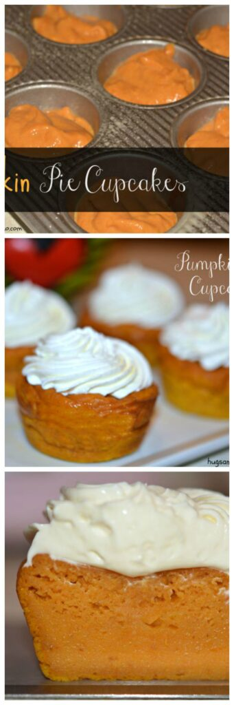 pumpkin pie cream cheese frosted muffins