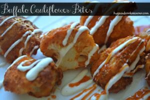 Cheesy Buffalo Cauliflower Bites