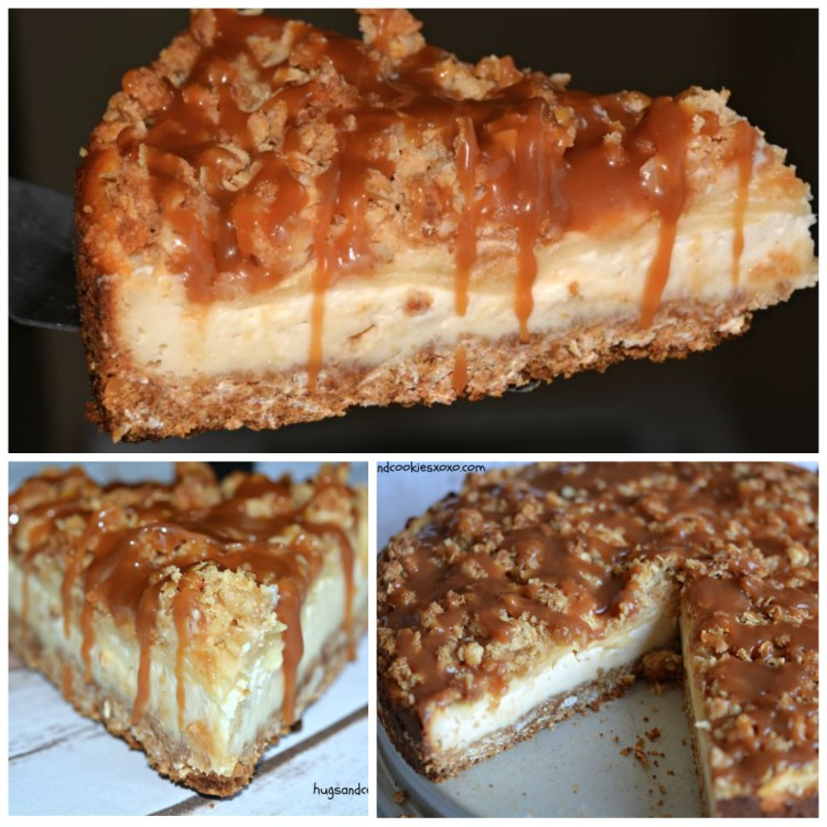 3 Layer Apple Cake: Caramel Apple Crisp Cheesecake