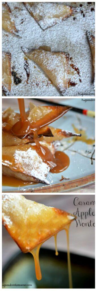 caramel apple wontons