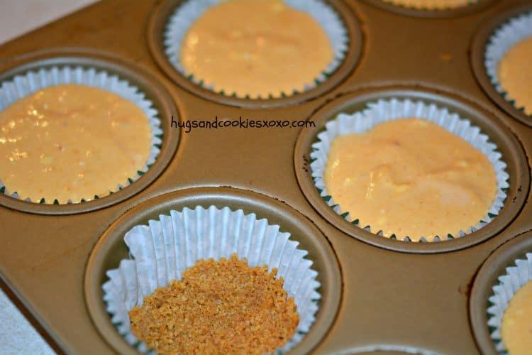 pumpkin mini cheesecake