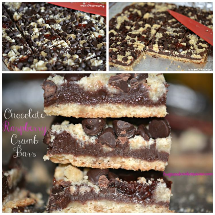 raspberry chocolate crumbs bars