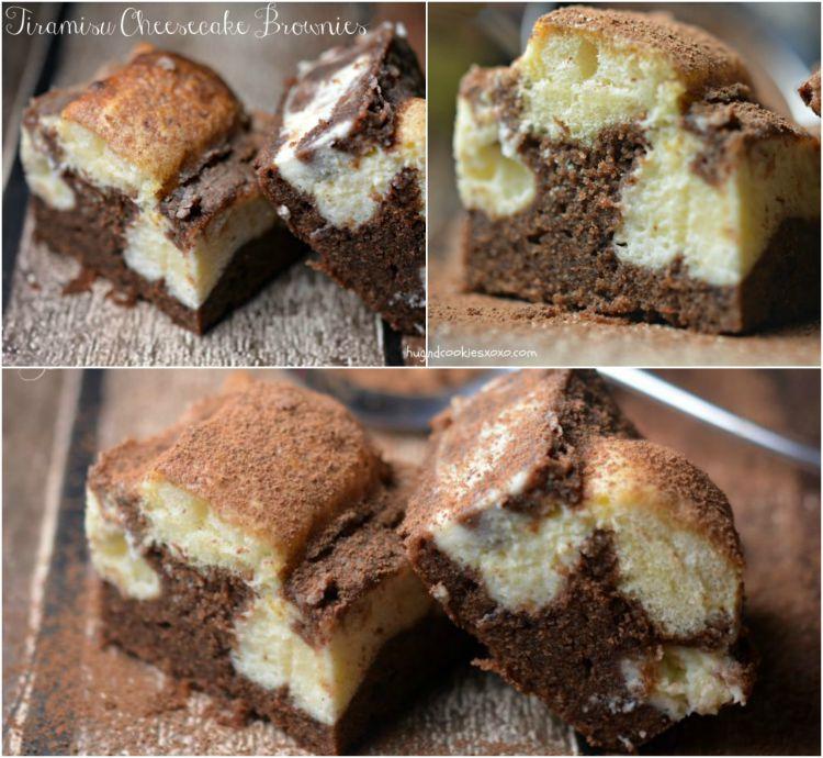 tiramisu cheesecake brownies collage