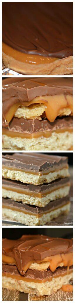 twix bars squares caramel