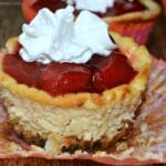 Mini Strawberry Mascarpone Cheesecakes