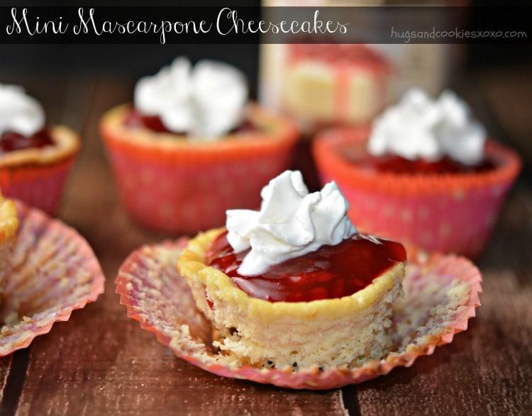 cheesecakes mini strawberries