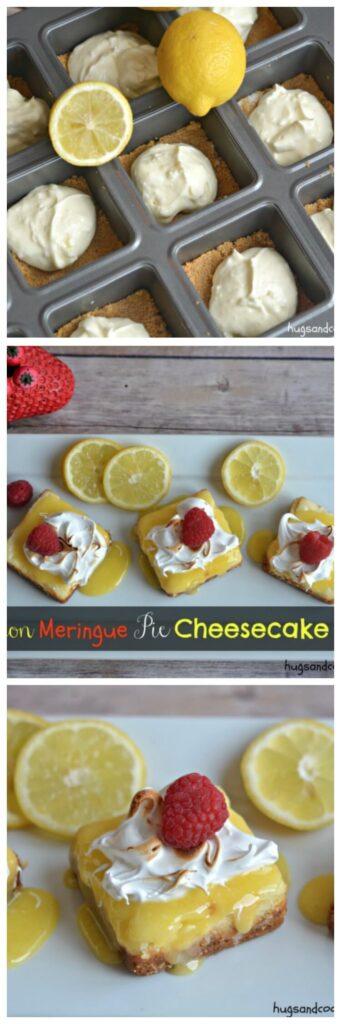 lemon meringue pie cheesecakes
