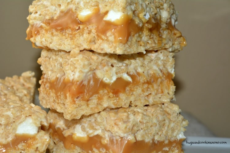 caramel krispy treats