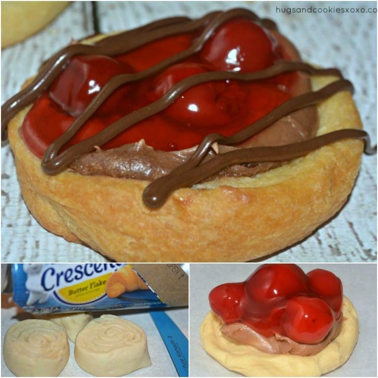 chocolate cheesecake danish