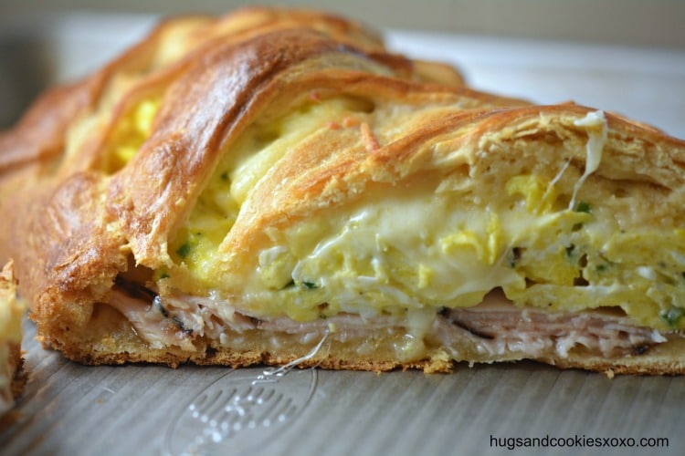 turkey eggs cheese chives crescents