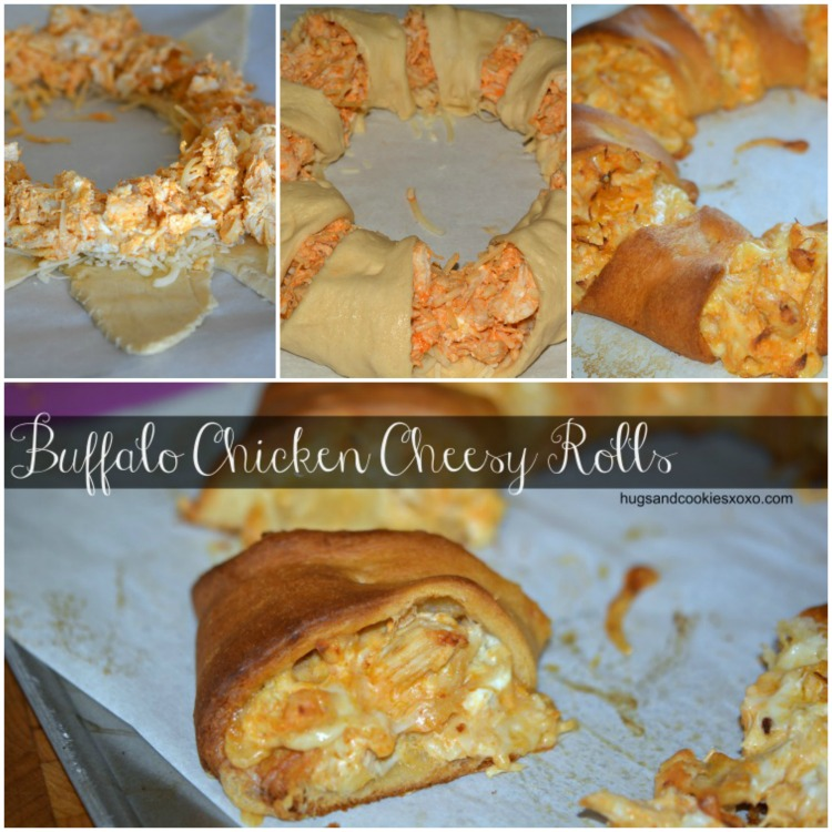 buffalo chicken hot sauce rolls