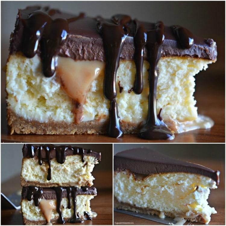 cheesecake slices fudgy