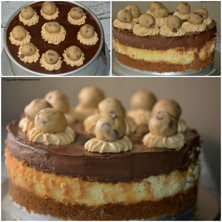 cookie dough cheesecake collage