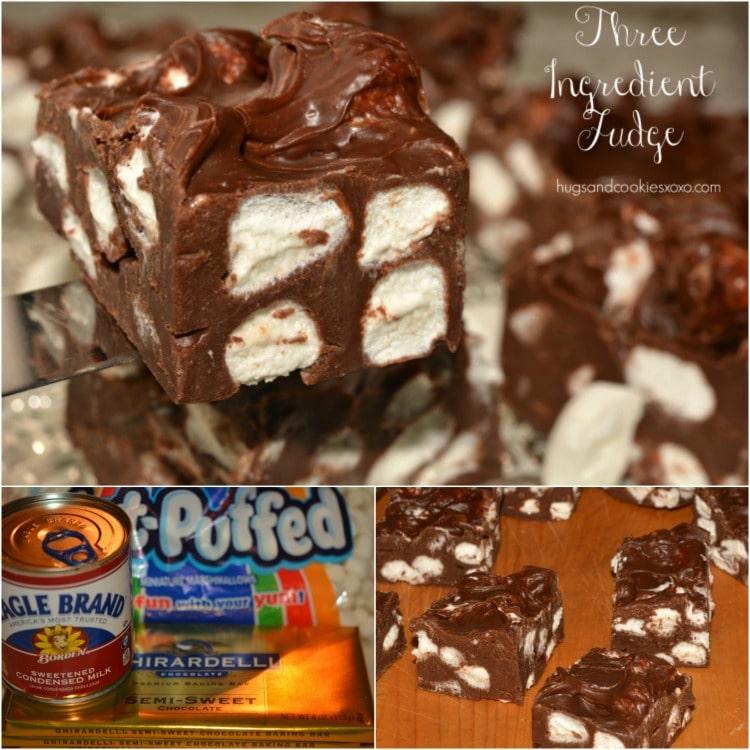 marshmallow 3 ingredient fudge