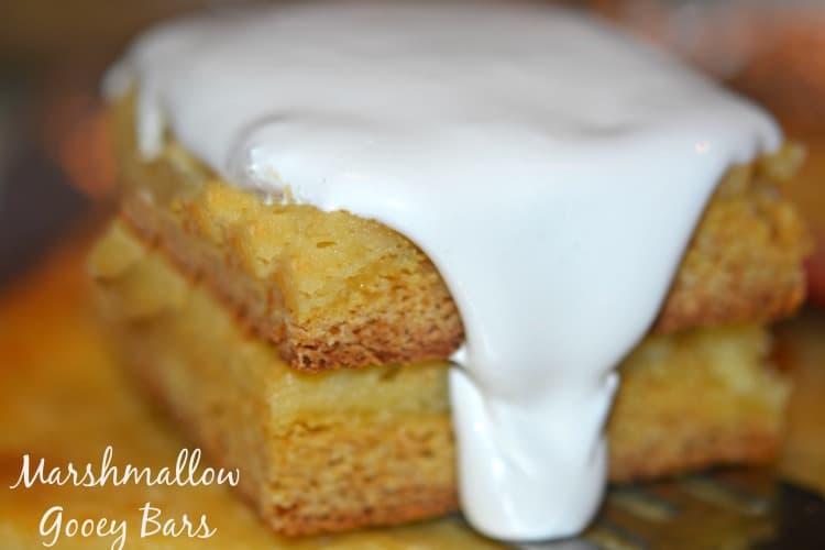 marshmallow gooey cake bars