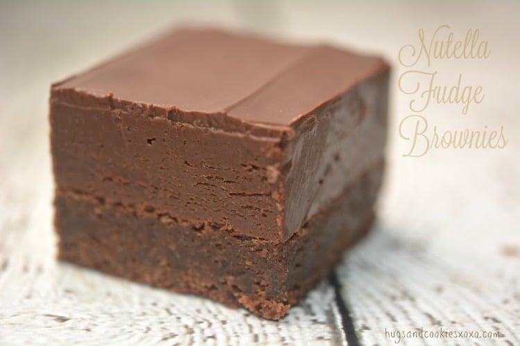 nutella brownies fudge