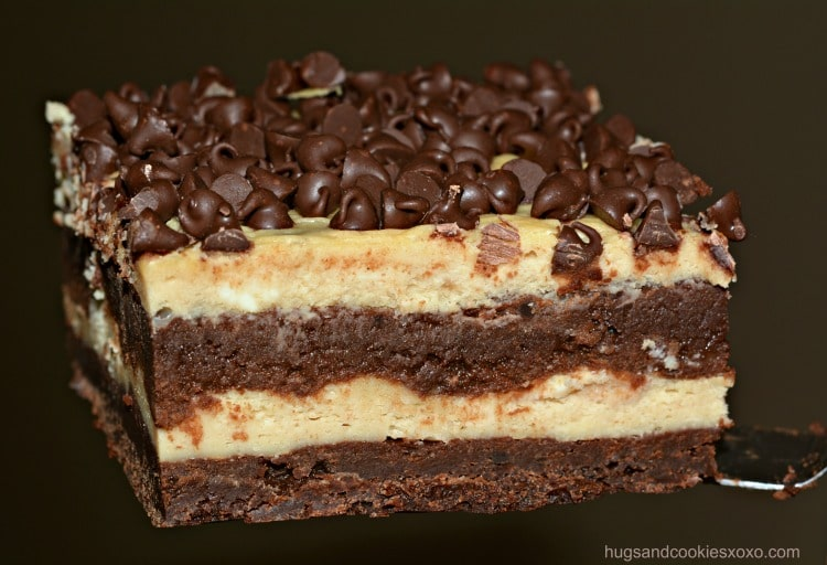 brownie cheesecake piece