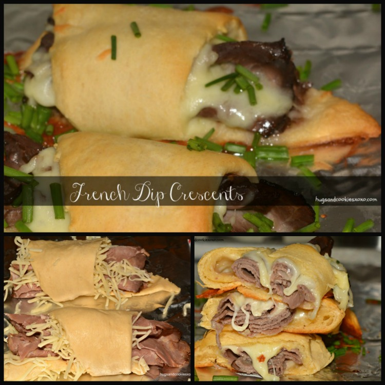 french dip crescent collage