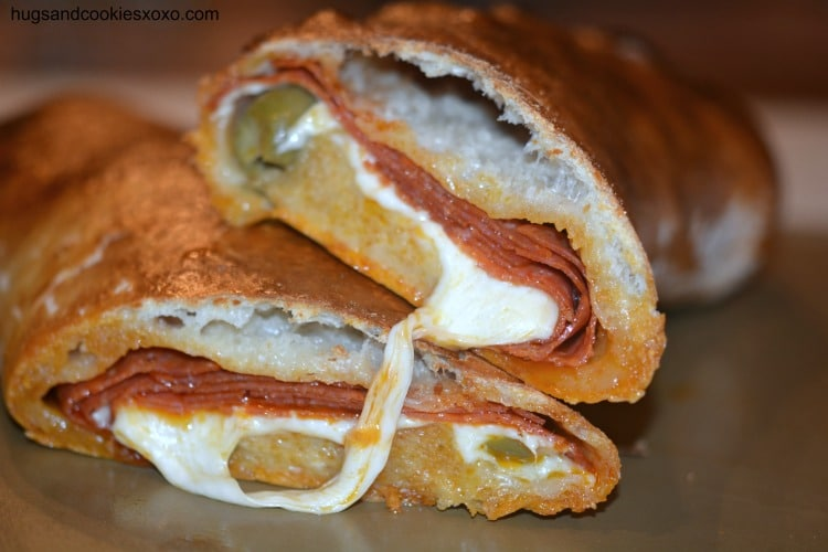 pepperoni cheesy olive bread