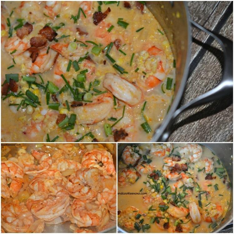 shrimp corn chowder chives