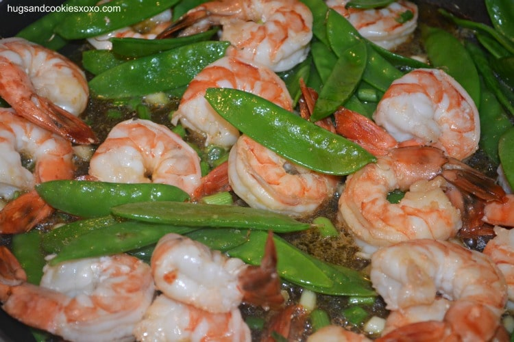 shrimp snap peas