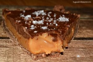 Chocolate Caramel Tart With Chocolate Almond Crust
