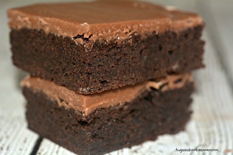 brownie chocolate frosted