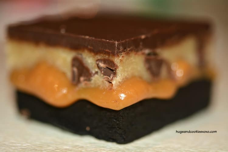 cookie dough brownie bar
