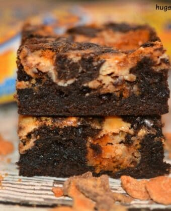 butterfinger brownie cheesecake bars