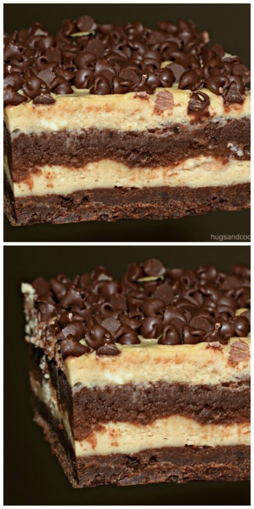 Layered Cheesecake Brownie Bars