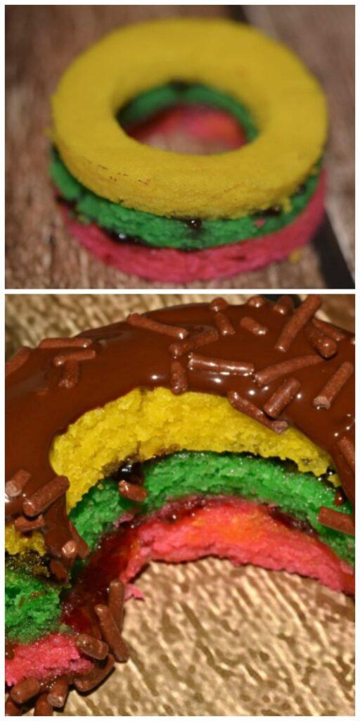 tri color donut