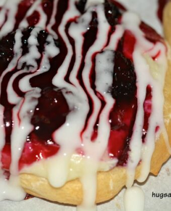 blackberry danish cheese frosted