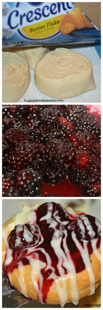 blackberry cheese danishes