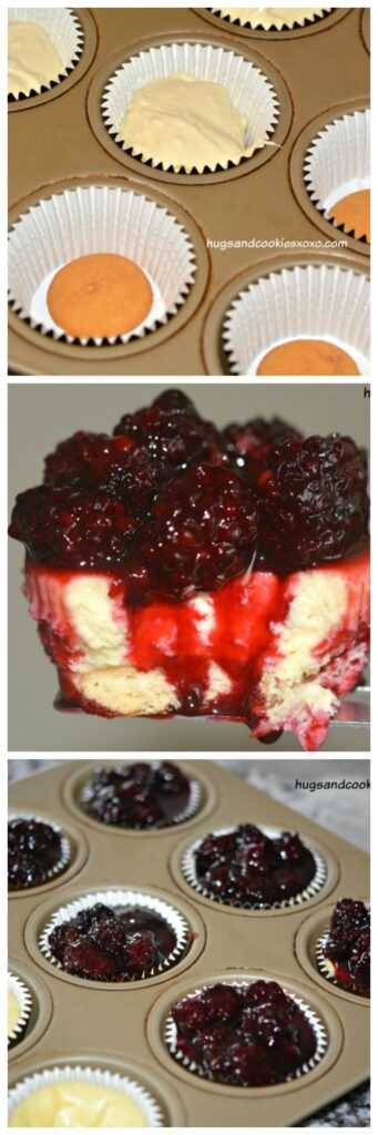 blackberry cheesecake collage
