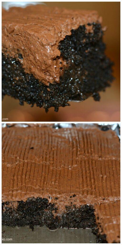 poke chocolate cake
