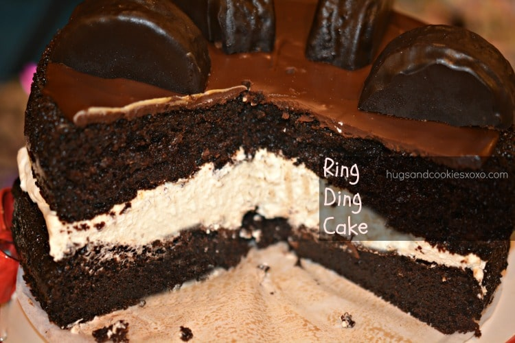 ring ding cake sliced
