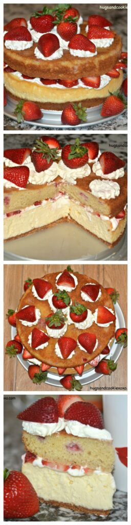 strawberry shortcake cheesecake collage 2