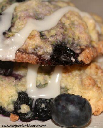blueberry shortcake scones