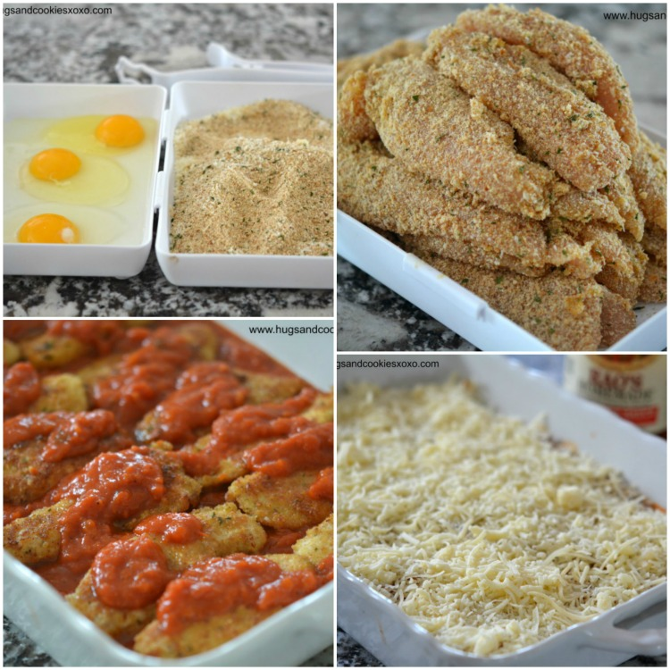 chicken tender parm dinner