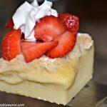 Magic Custard Slice With Strawberries