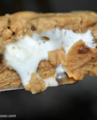 marshmallow stuffed peanut butter cookie