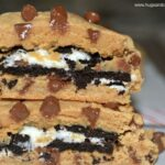 Peanut Butter Cookies Stuffed with Oreos