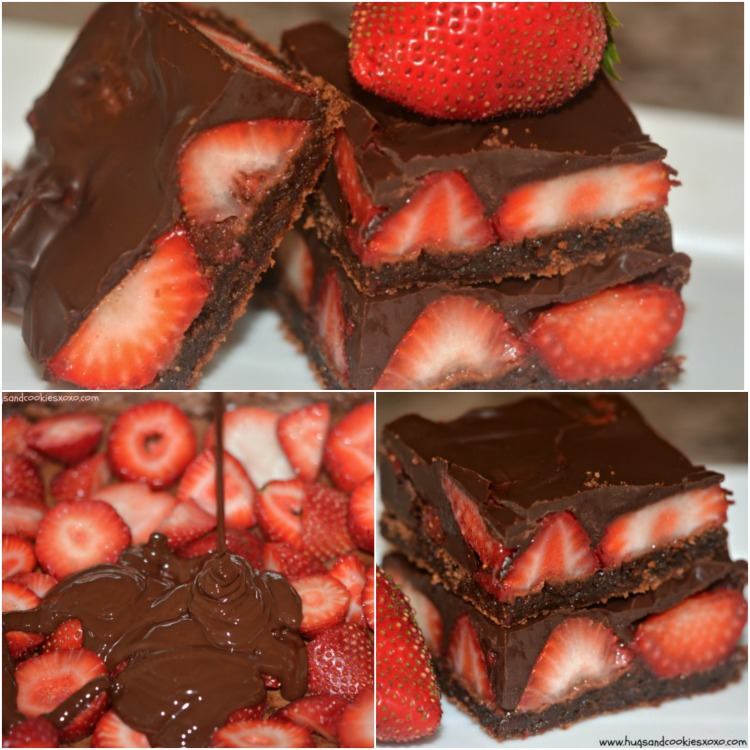 choc strawberry bronwies