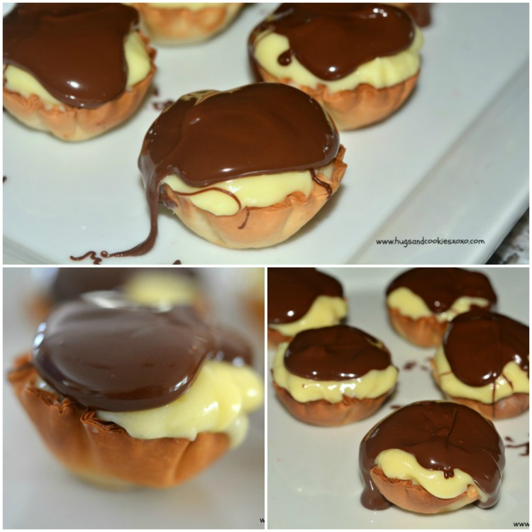 mini boston cream pie tarts